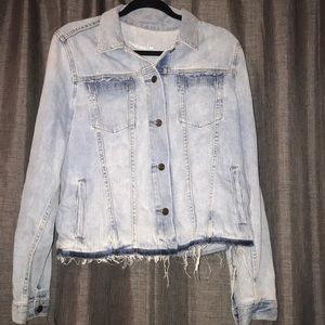 gap 1969 vintage style denim jacket in bleach wash